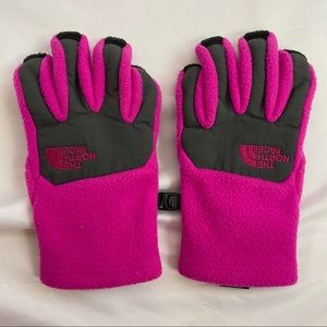The North Face Pink & Black UR Powered Gloves, Med
